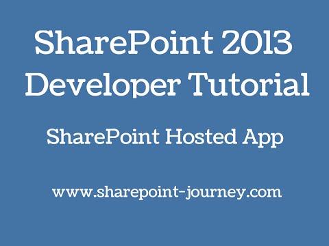 SharePoint 2013: SharePoint Apps development | SharePoint-Journey.com