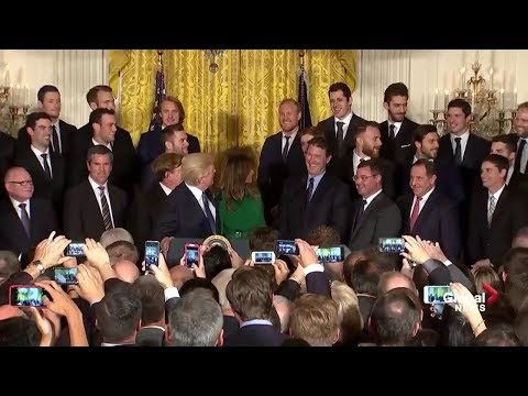 Pittsburgh Penguins visit Donald Trump at The White House