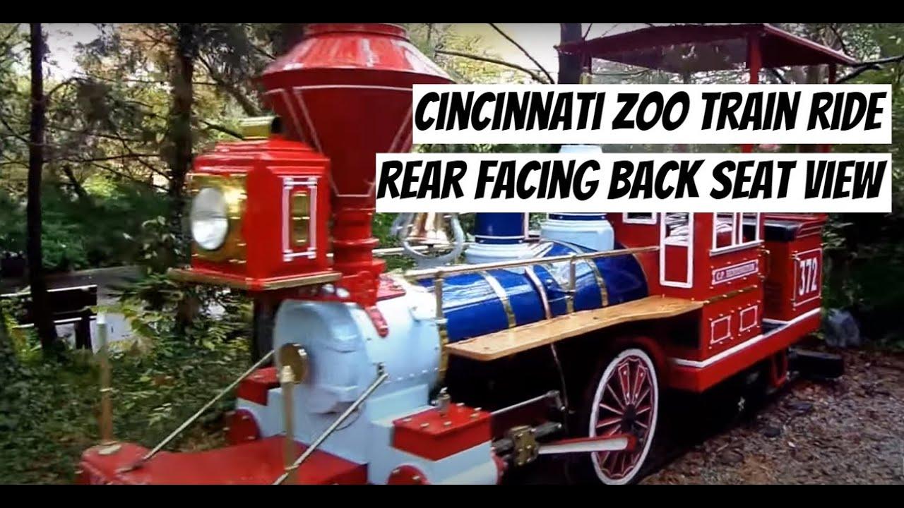 Cincinnati Zoo Train Ride REAR FACING  Start to Finish  YouTube