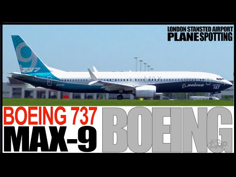 Boeing 737 MAX 9 Departing London Stansted Airport B737 9 Max Boeing Livery Planes at London Stanste