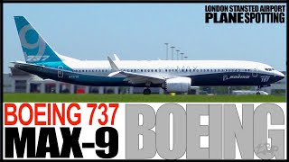 Boeing 737 MAX 9 Departing London Stansted Airport B737 9 Max Boeing Livery
