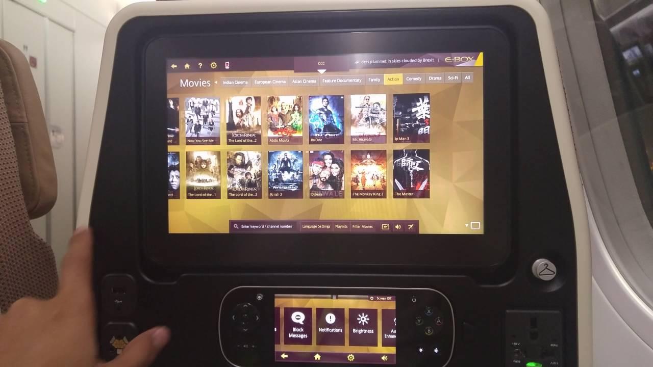 Etihad Airways In Flight Entertainment Youtube