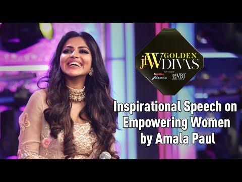 Jfw Golden Divas 2018 - Amala Paul Inspirational Speech on Empowering Women