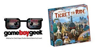 Sneak Peek of Ticket to Ride: France and Old West United States with the Game Boy Geek