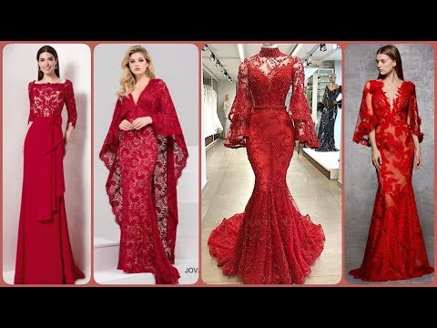 charming-lace&stain-v_neck-red-colour-a-line-mermaid-dresses/evening-dresses-ideas