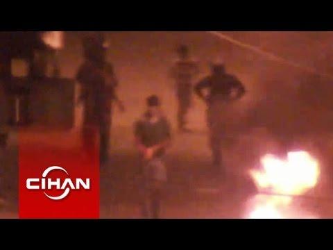 Eylemcilerin polise attığı bir kişinin öldüğü bomba mobese kamerasında