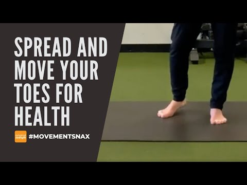 Spread and Move Your Toes for Health