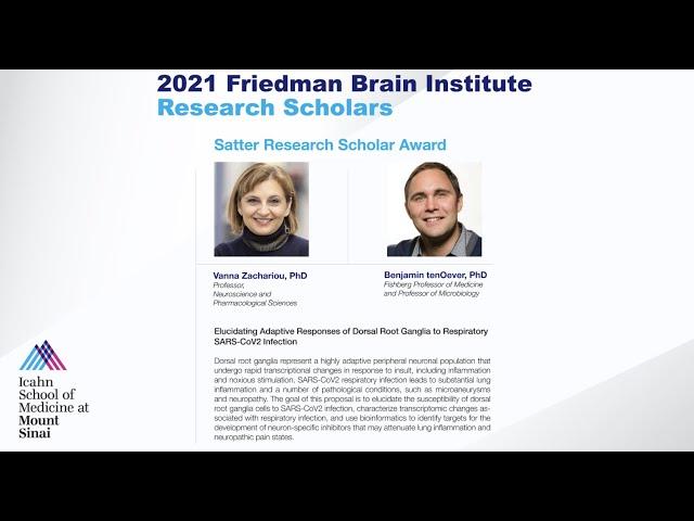 FBI Research Scholars: Vanna Zachariou, PhD and Benjamin tenOever, PhD