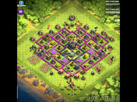 clash of clans places for town halls 7-9