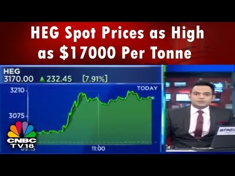 HEG Spot Prices as High as $17000 Per Tonne: Ravi Jhunjhunwala | CNBC TV18