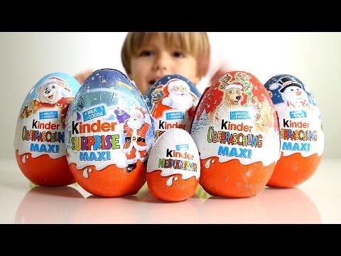 5 Big Kinder Surprise Eggs for Christmas and a regular Kinder Egg