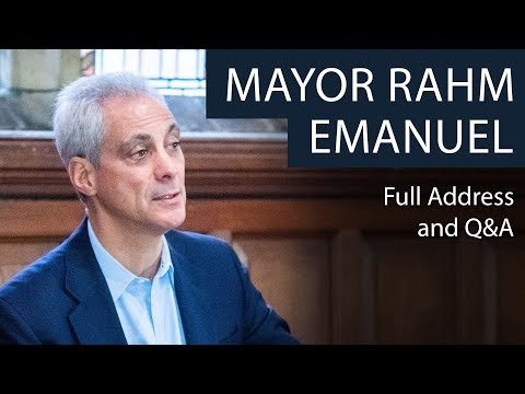 Rahm Emanuel | Full Address And Q&A | Oxford Union