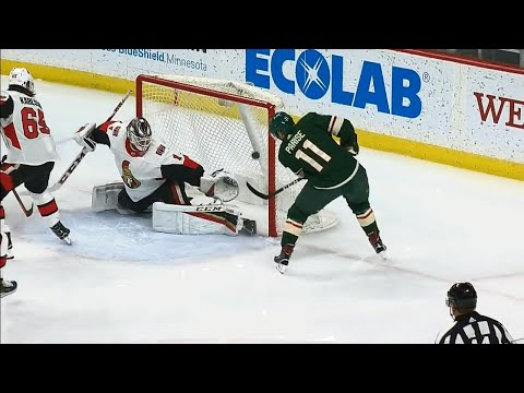Parise gives Wild a lead over Senators less than a minute in