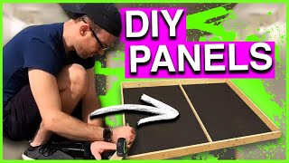 How I Built My Acoustic Panels (Wall, Ceiling, and Cloud Panels) - An In Depth Build Video