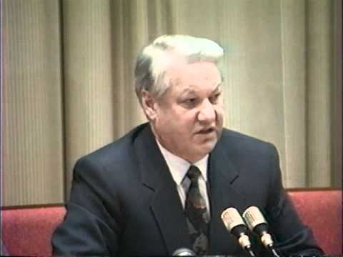 Ельцин после развала СССР и отставки Горбачева 26.12.1991