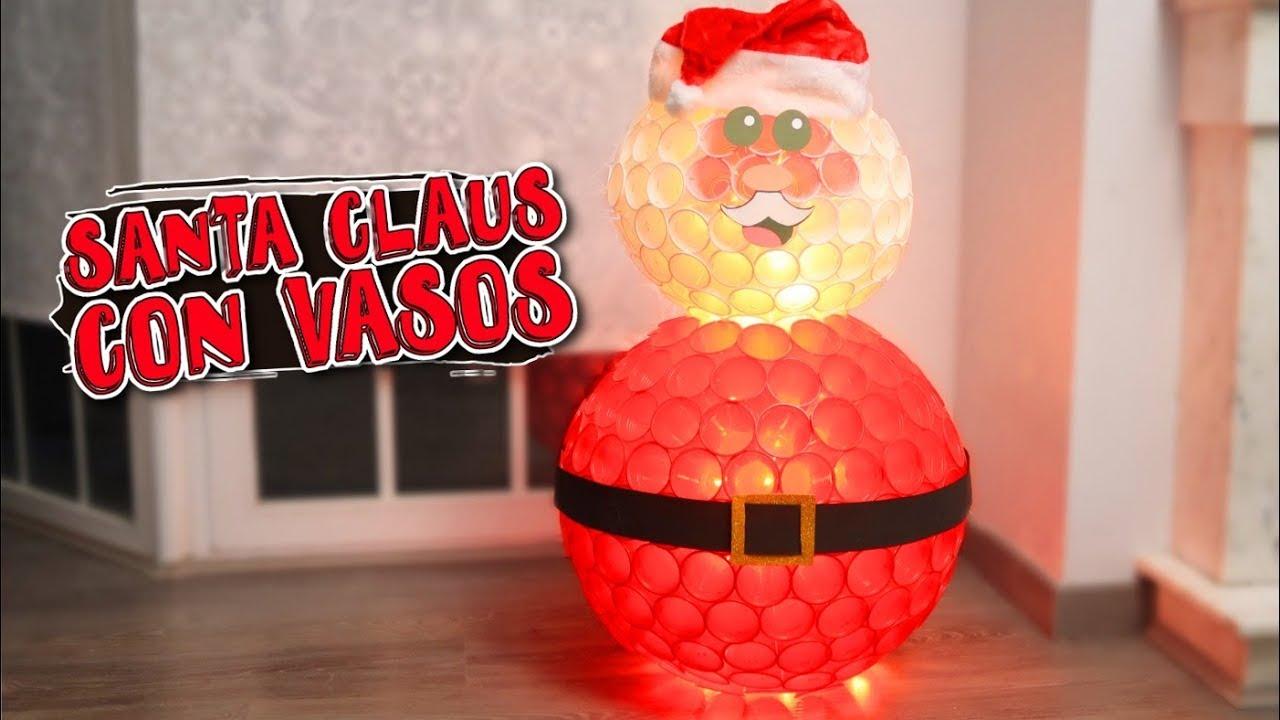Muñeco De Nieve Con Vasos De Plástico Manualidades Fáciles Para