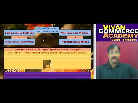 Piecemeal Distribution of cash ( surplus capital method )  for F.Y.B.com Pune univrsity