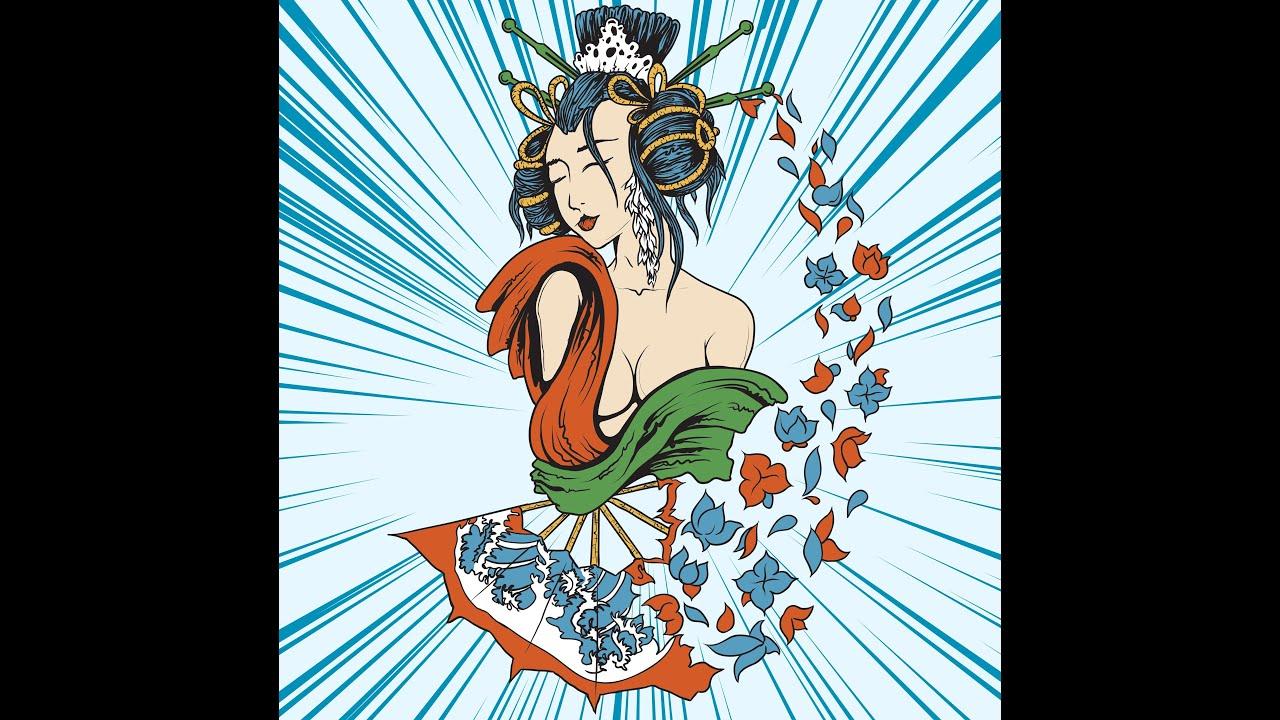 Coloriage Adulte Geisha.Coloriage Anti Stress Pour Adultes 40 Dessins De Geishas A Imprimer