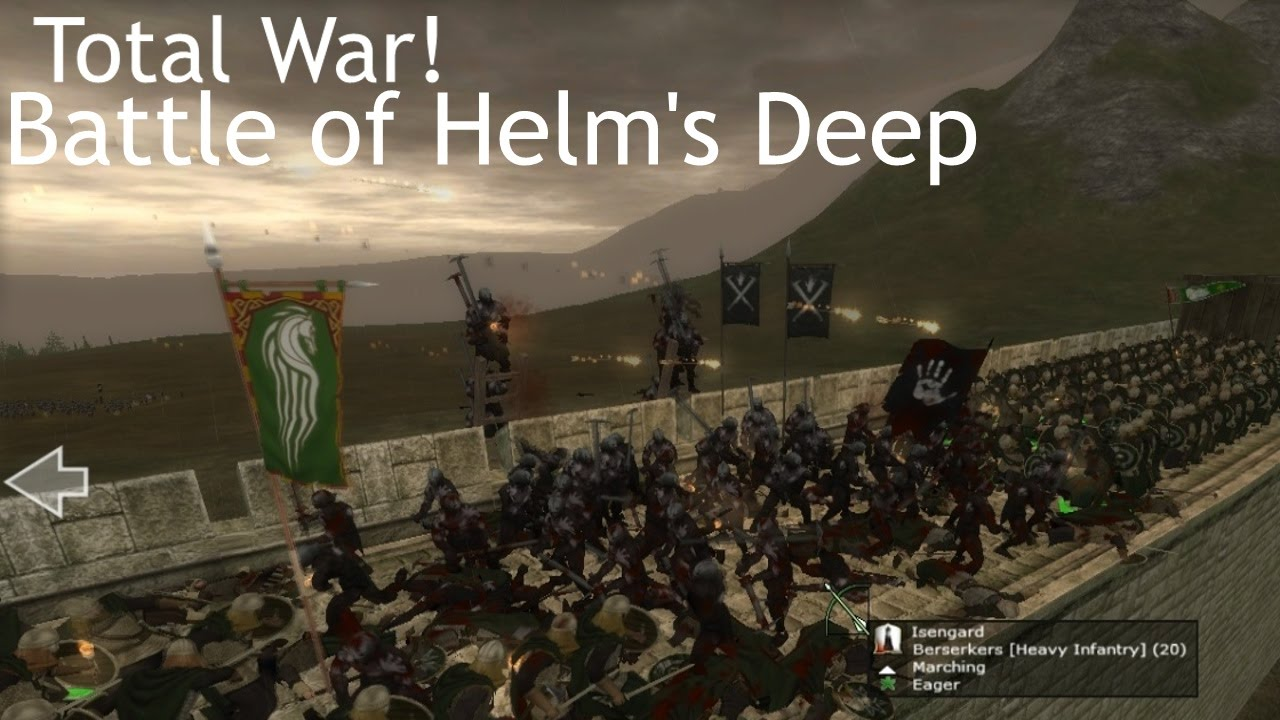 Total War: Third Age Mod - The Battle for Helm's Deep! - LADDERS! GOOD!