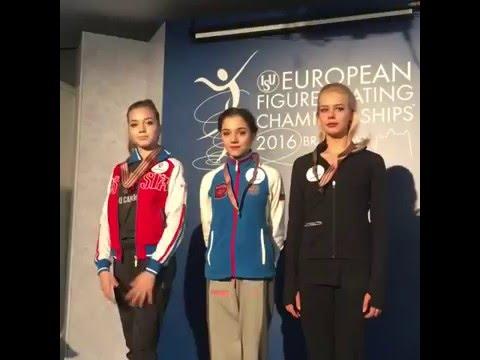 Elena Radionova - Bratislava 2016 SP Winners Ceremony