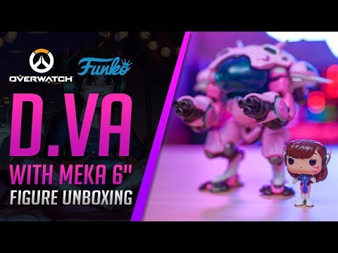 """UK Funko POP Overwatch D.Va w// MEKA 6/"""" Video Game Vinyl Figure"""