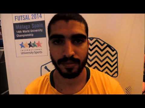 Jonny Gomes - Mundial Universitário de Futsal 2014 (Espanha)