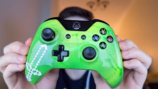 ★NEW AMAZING!! Custom Minecraft Xbox One Controller Unboxing From @AcidicDesigns★
