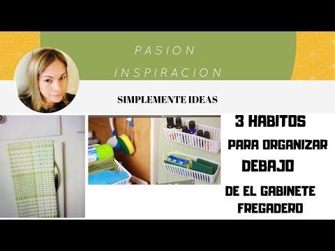 3 HABITOS PARA QUE SU GABINETE DEBAJO DE EL FREGADERO SE VEA ELEGANTE Y ORGANIZADO