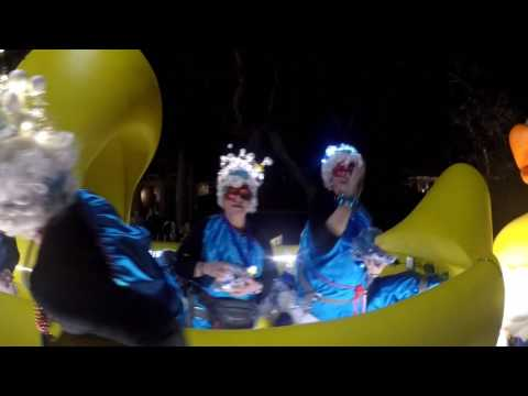 Krewe of Muses Mardi Gras 2017 Parade, from the Garden District in New Orleans Louisiana