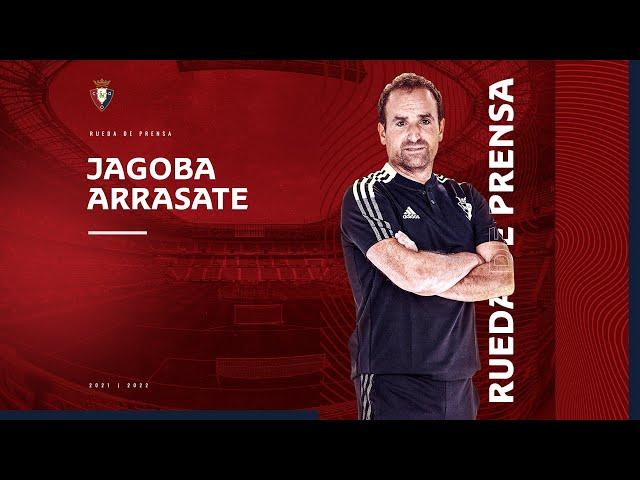Rueda de prensa de Jagoba Arrasate previa al partido ante el Valencia (11.09.2021)
