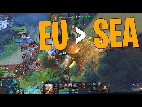 EU Greater Than SEA - DotA 2 Techies Full Match