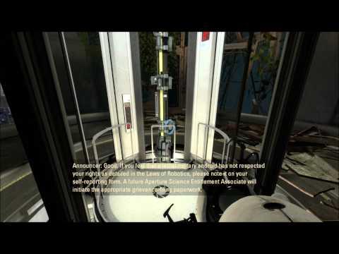 Let's Play Portal 2! - 001 - Meeting Wheatley, and the blue portal gun!