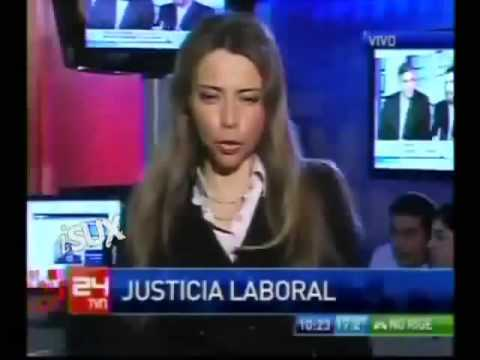 Chilean Lawyer Faints on TV