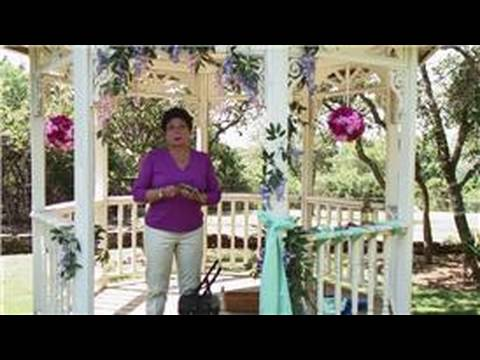 Wedding Ceremony Decorations : How to Decorate a Wedding Arbor With Photographs