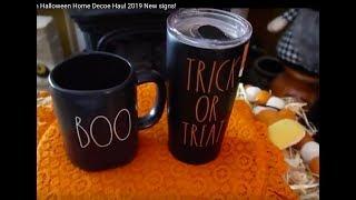 Rae Dunn Halloween Home Decor Haul 2019 New signs Jackpot!!!