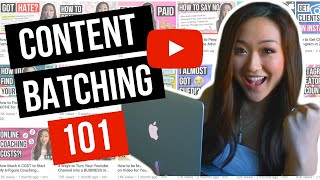 How to Batch Content for Youtube (3 Months of Content in 2 Weeks!)