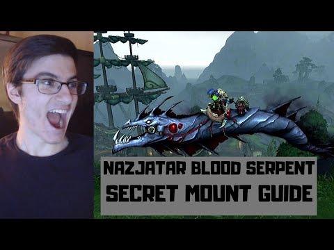 How To Get The Nazjatar Blood Serpent Secret Mount