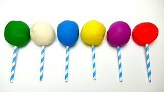 Play Doh Lollipops Learn Colours Tom & Jerry Mascha Madagascar Penguins