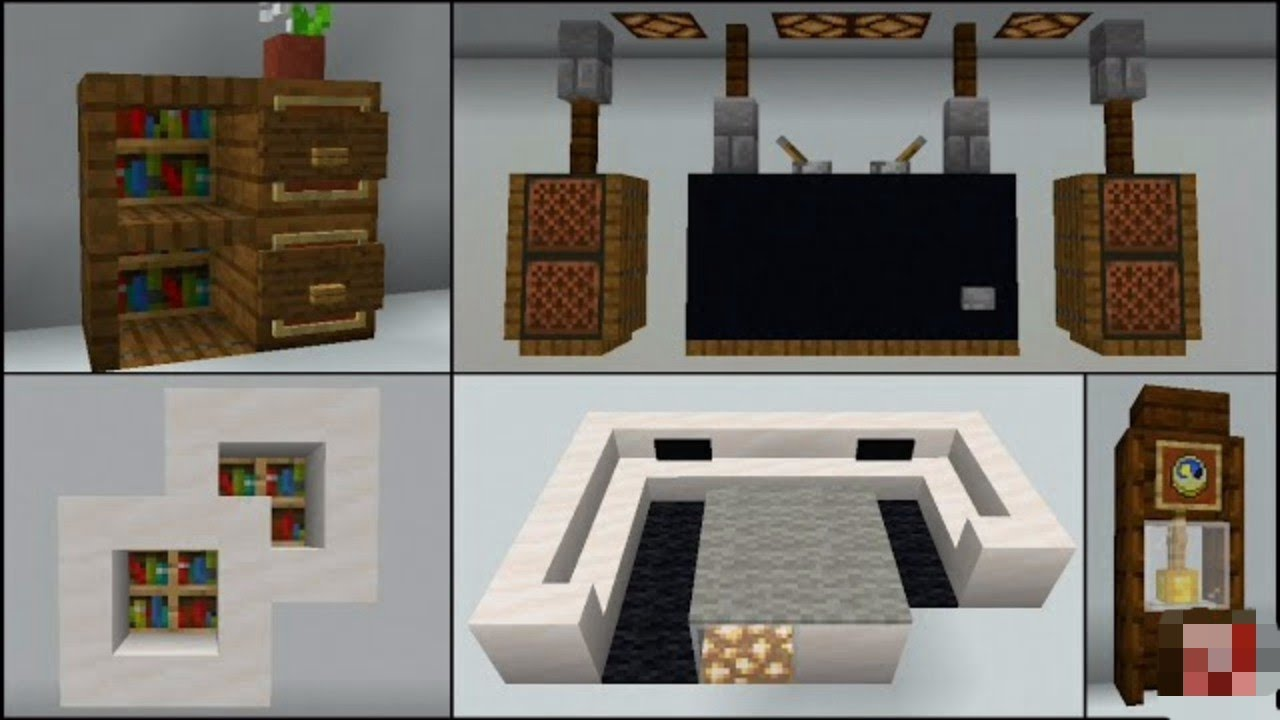 minecraft 30 living room build hacks and ideas  youtube