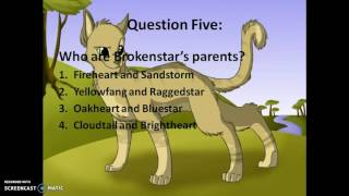 Warrior Cats Fire and Ice - Quiz