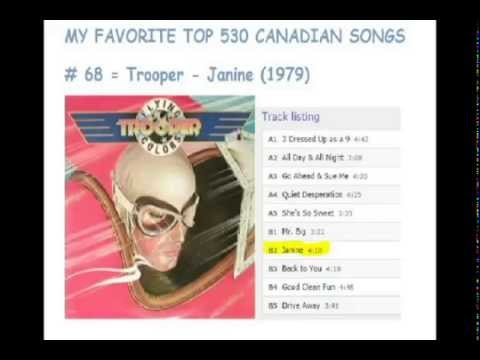 Top 530 Canadian Songs - 70 To 61