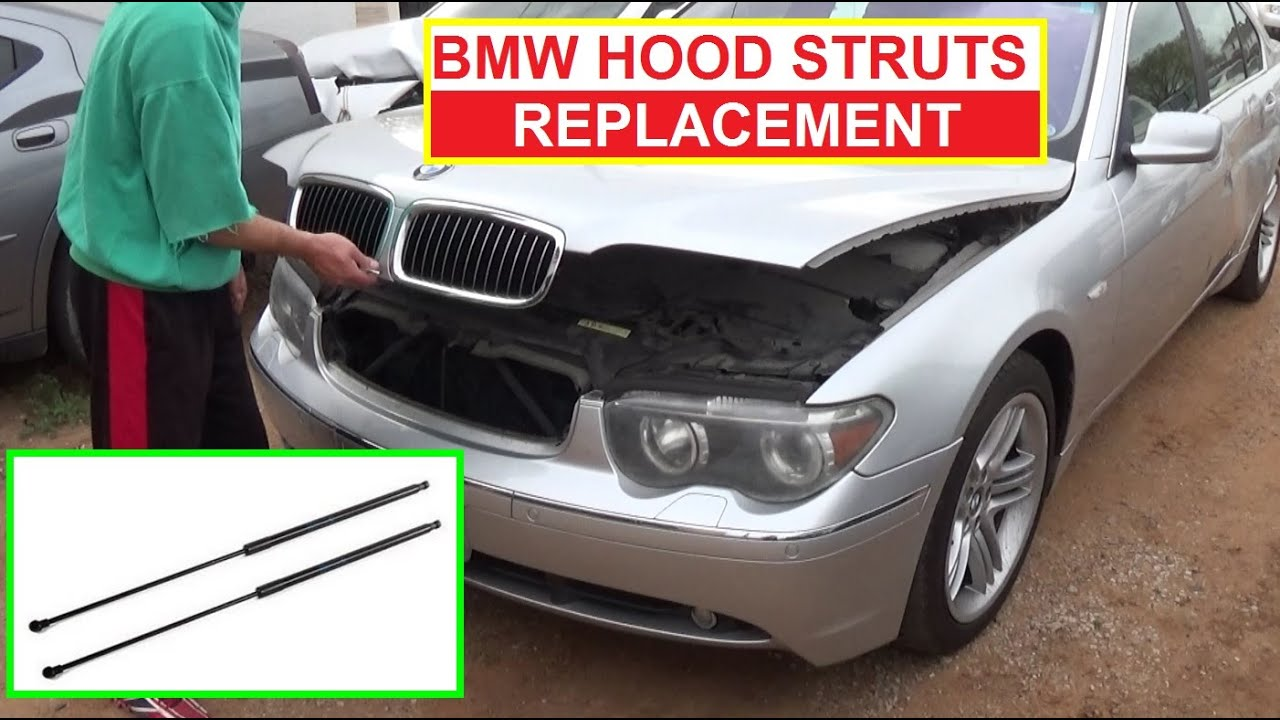 how to install replace hood lift support struts shocks bmw e65 e66 e46 e83 e39 [ 1280 x 720 Pixel ]
