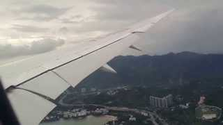 Boeing 787 turbulent landing at Hong Kong