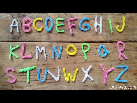 Juegos educativos, aprende las letras con limpiapipas