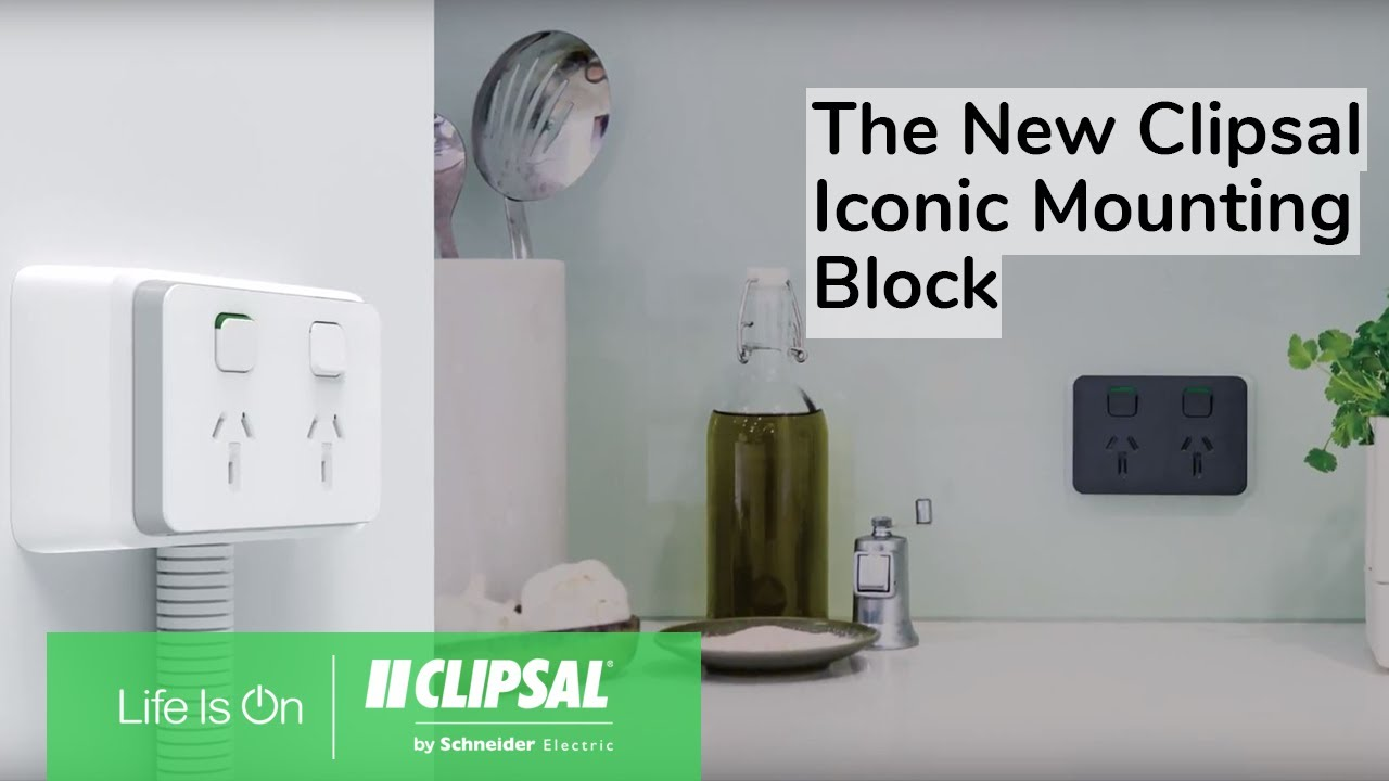 introducing the new clipsal iconic mounting block [ 1280 x 720 Pixel ]