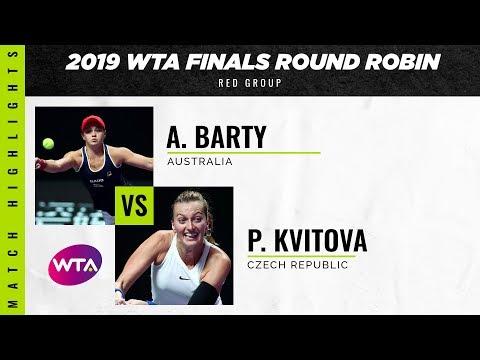 Ashleigh Barty vs. Petra Kvitova | 2019 WTA Finals | WTA Highlights