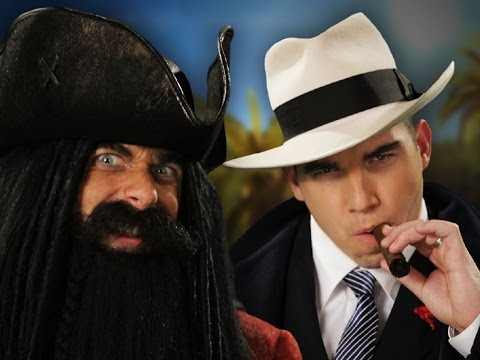 Blackbeard vs Al Capone.  Epic Rap Battles...