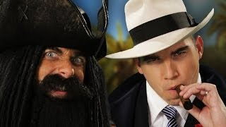 Blackbeard vs Al Capone. Epic Rap Battles of History thumbnail