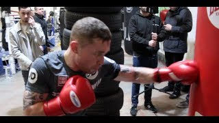 CARL FRAMPTON DESTROYS THE HEAVY-BAG - AHEAD OF NONITO DONAIRE CLASH ON APRIL 21ST IN BELFAST
