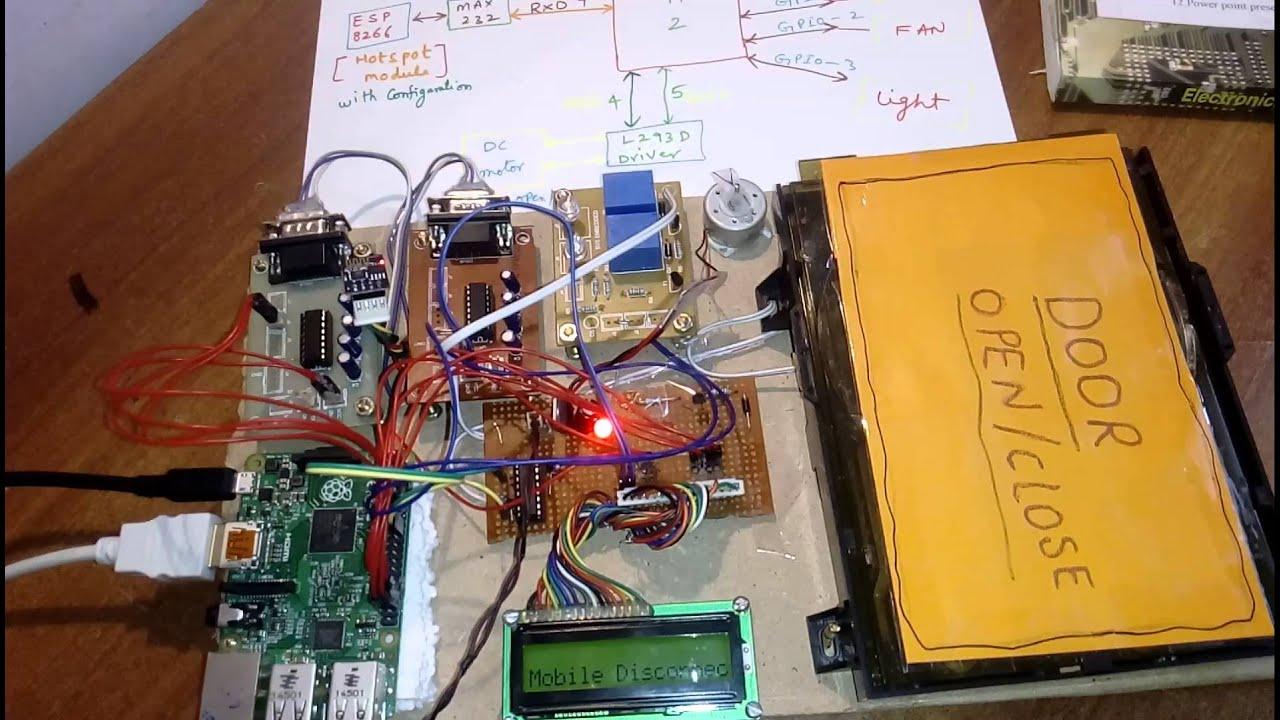 raspberry pi home automation using wifi esp8266 youtube